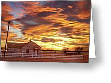 Country House Sunset Longmont Colorado Boulder County Greeting Card
