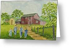 Country Kids Greeting Card