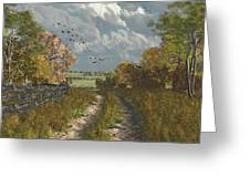 Country Lane In Fall Greeting Card