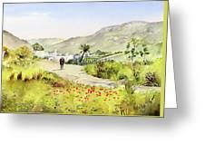 Country Lane In Spring Greeting Card