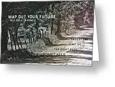 Country Lane Quote Greeting Card