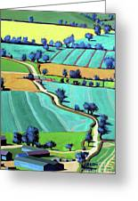 Country Lane Summer II Greeting Card