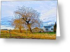 Country Life Artististic Rendering Greeting Card