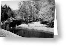 Mabry Mill Greeting Card by Ella Char