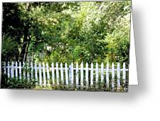 Country Picket Fence Greeting Card