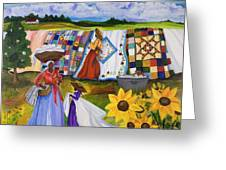Country Quilts Greeting Card