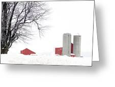 Country Red And White  Greeting Card