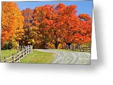 Country Road Autumn Greeting Card