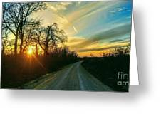 Country Road Please Take Me Home Greeting Card