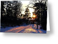 Country Road Sunset Greeting Card