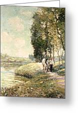 Country Road To Spuyten Greeting Card by Ernest Lawson