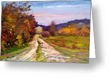 Country Road - Toscana Greeting Card