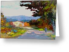 Country Road - Tuscany Greeting Card