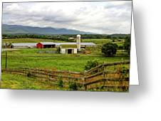 Country Scenic In West Virginia Greeting Card