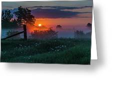 Country Sunrise Greeting Card