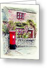 Country Village Post Box Greeting Card