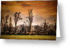 Countryscape With Bell Tower Greeting Card