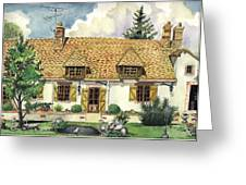 Countryside House In France Greeting Card