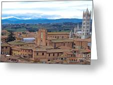 Countryside In Siena Greeting Card