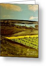 countryside/VINEYARD Greeting Card by Marie Bulger