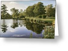 Countryside Park Pond Greeting Card