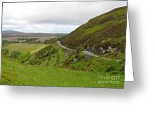 Countryside Road Bends Around Hill Greeting Card