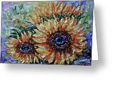 Countryside Sunflowers Greeting Card
