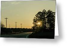 Countryside Sunset Greeting Card