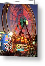 County Fair Ferris Wheel 2 Greeting Card by Corky Willis Atlanta Photography