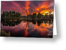 County Farm Sunset Greeting Card
