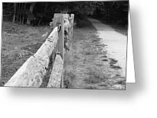 County Fence  Greeting Card by D R TeesT