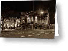 County Sessions House By Night Liverpool Greeting Card