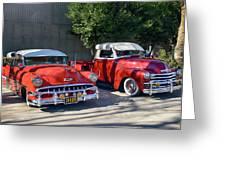 Coupala Chevys Greeting Card
