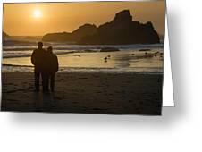 Couple At Harris Beach 0197 Greeting Card