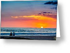 Couple At Sunset Greeting Card
