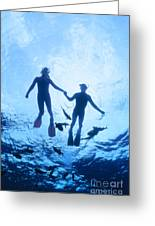 Couple At The Surface Greeting Card