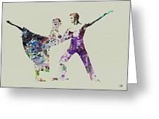 Couple Dancing Ballet Greeting Card by Naxart Studio