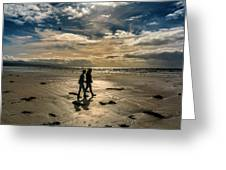 Couple In Golden Beach Greeting Card