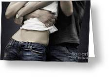 Couple In Jeans Greeting Card