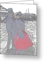 Couple In Red Greeting Card