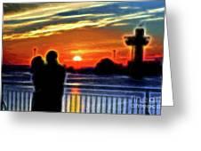 Romantic Sunrise. Greeting Card