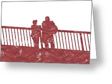 Couple On Bridge Greeting Card