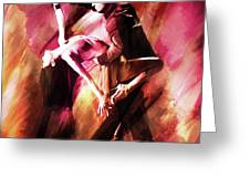 Couple Tango Art Greeting Card