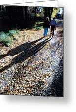 Couple Walking In The Fall Greeting Card
