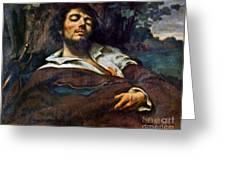 Courbet: Self-portrait Greeting Card
