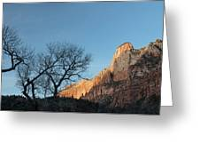 Court Of The Patriarchs Sunrise Zion National Park Greeting Card