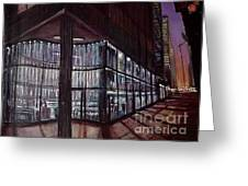 Court Restaurant At Night Greeting Card
