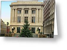 Courthouse At Christmas Greeting Card