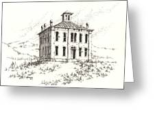 Courthouse Belmont Ghost Town Nevada Greeting Card