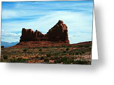Courthouse Rock In Arches National Park Greeting Card